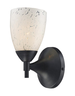 ELK Lighting Celina Celina 1-Light Sconce In Dark Rust And Snow White Glass - 10150/1DR-SW - ELKLightingCenter