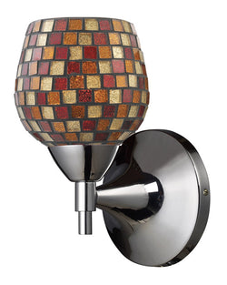 ELK Lighting Celina Celina 1-Light Sconce In Polished Chrome With Multi Fusion Glass - 10150/1PC-MLT - ELKLightingCenter