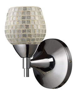 ELK Lighting Celina Celina 1-Light Sconce In Polished Chrome With Silver Glass - 10150/1PC-SLV - ELKLightingCenter