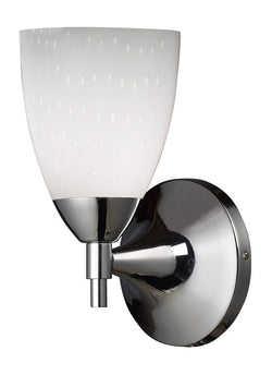 ELK Lighting Celina Celina 1-Light Sconce In Polished Chrome And Simple White Glass - 10150/1PC-WH - ELKLightingCenter