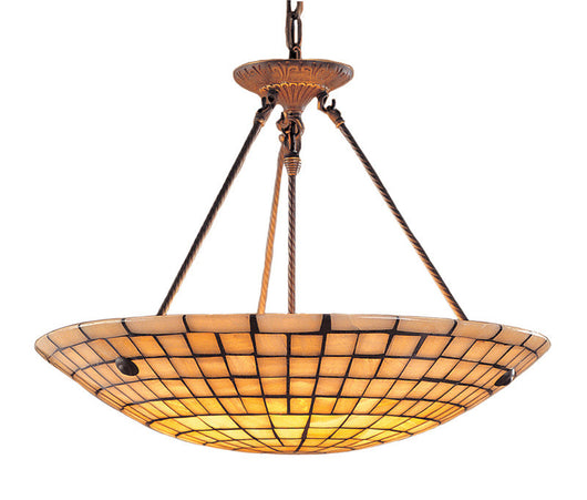 ELK Lighting Stone Mosaic 8 Light Pendant In Dark Antique Brass And Quartz Mosaic Stone - 8820/8 - ELKLightingCenter