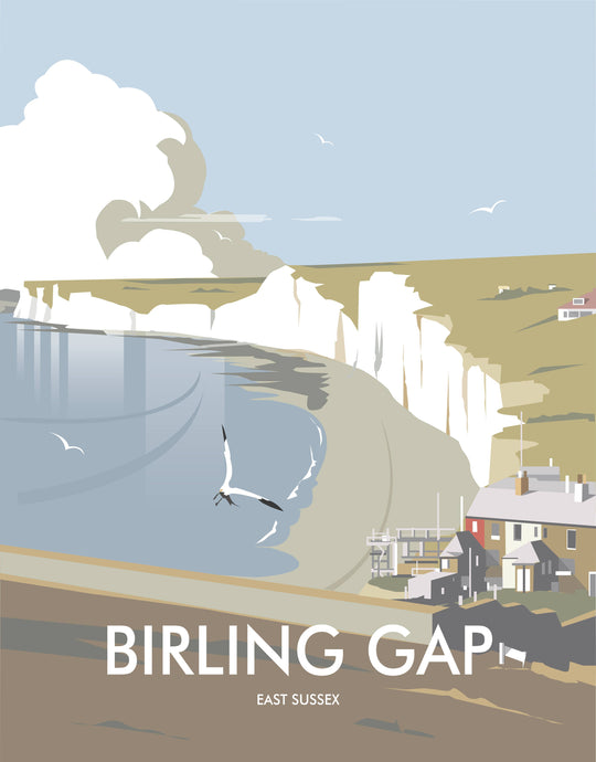 Birling Gap print by Dave Thompson