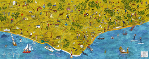 East Sussex Art and Culture Map by Benjamin Phillips