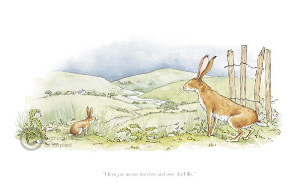 I Love You across the River Print by Anita Jeram