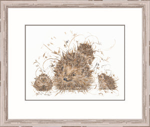 Hedgie and the Hoglets Print by Aaminah Snowdon