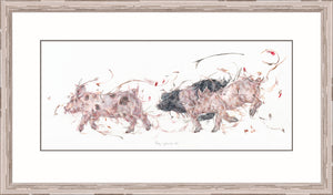 Tag you're it! piglet print by Aaminah Snowdon