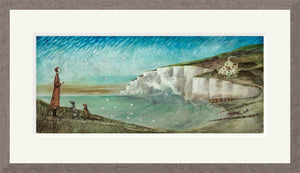 Coastguard Cottages print by Joe Ramm