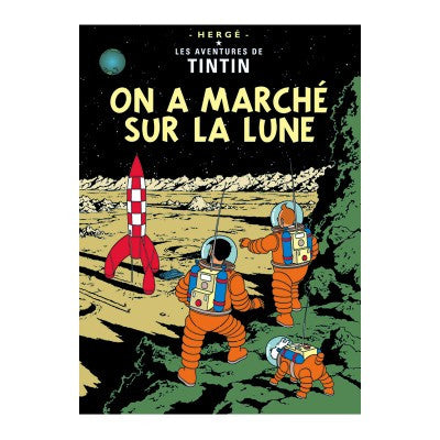 On a Marche sur La Lune Print Tintin by Herge