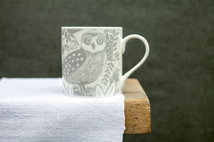 Owl and Fox Mug by Sam Wilson