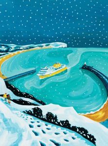 Newhaven in the Snow Print by Sarah Gregson