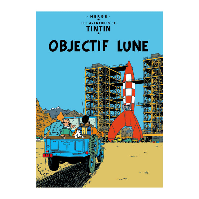 Objectif Lune Poster from Tintin by Herge