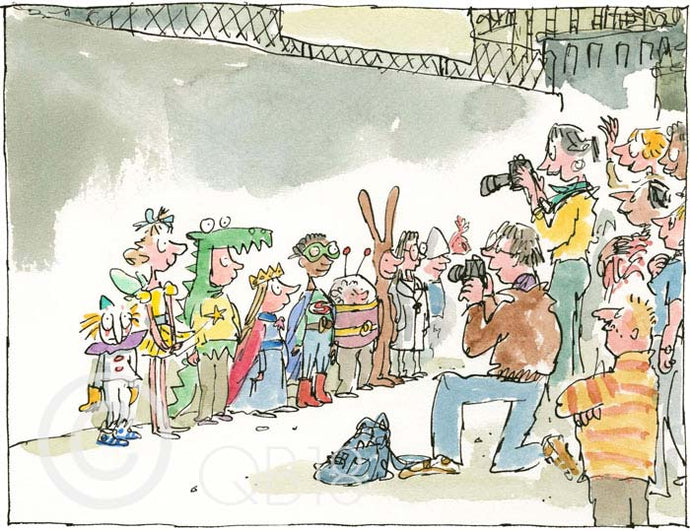 School Fancy Dress print by Quentin Blake