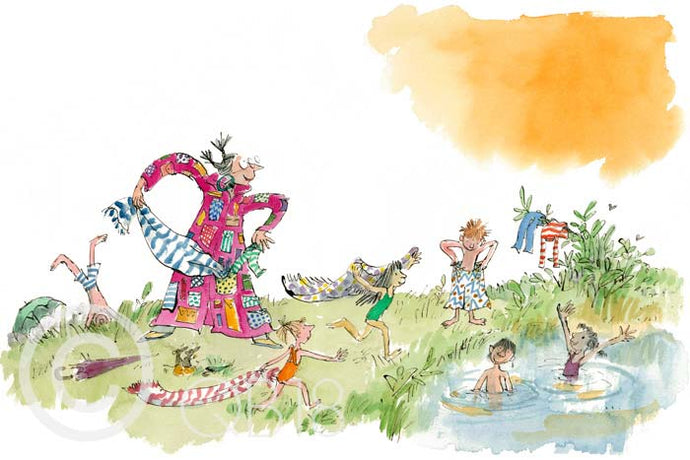 Angelica Sprocket's Pockets Print by Quentin Blake