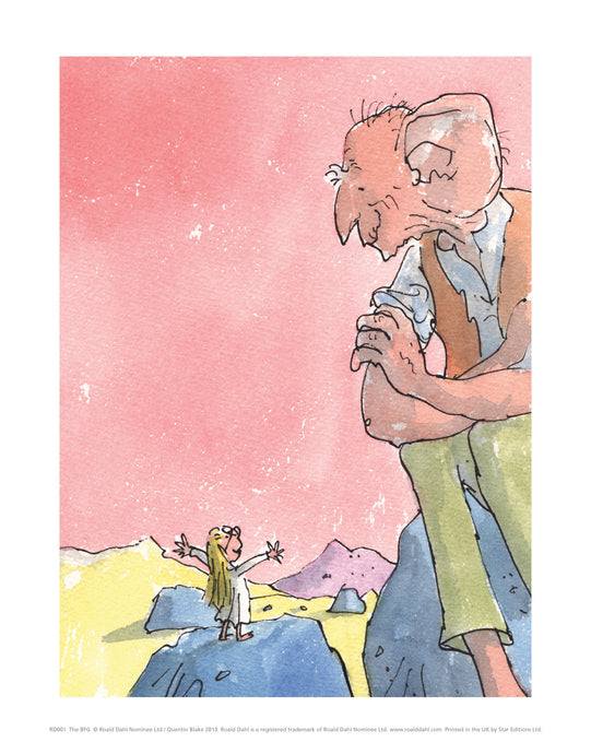 The BFG Print by Roald Dahl