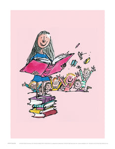 Matilda Reading Print by Roald Dahl