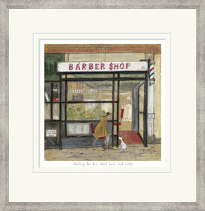 Waiting for his Short Back and Sides Print by Sam Toft