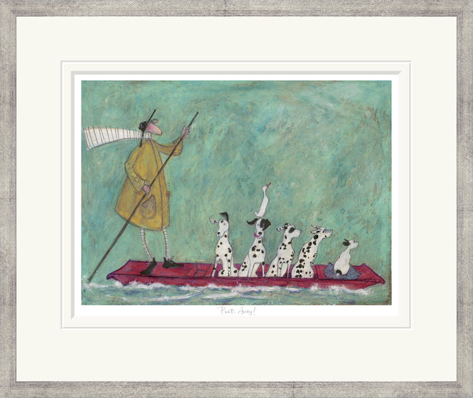 Punts Away print by Sam Toft