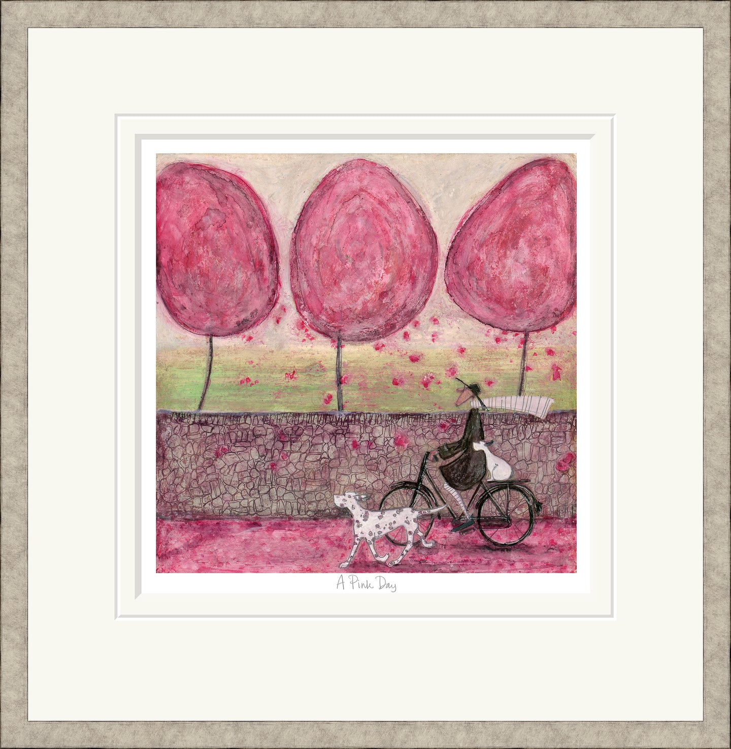 A Pink Day Print by Sam Toft