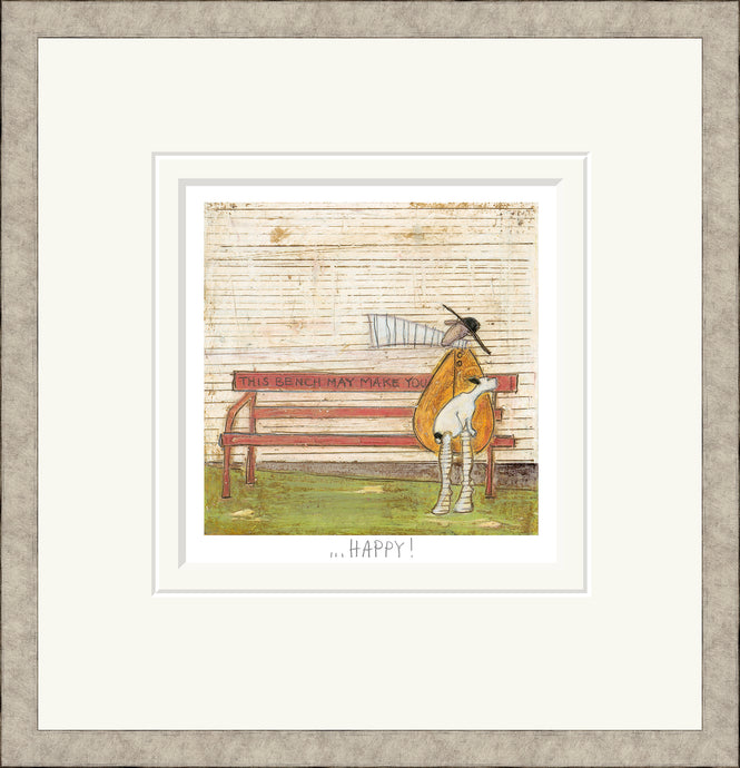 This Bench may make you Happy Print by Sam Toft