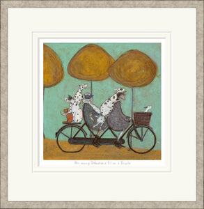 How many Dalmatians Fit on a Bicycle? print by Sam Toft