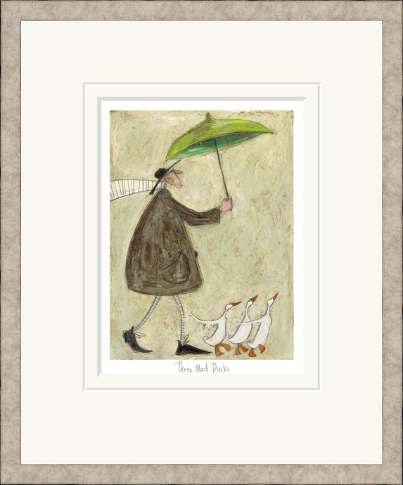Three Mad Ducks print by Sam Toft