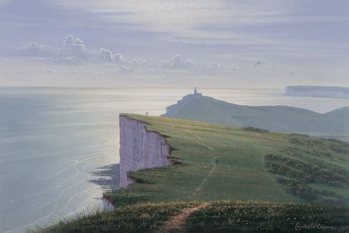 Sussex Shores, Belle Tout Print by Christopher Osborne