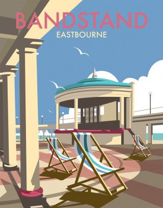 Eastbourne Bandstand Print by Dave Thompson
