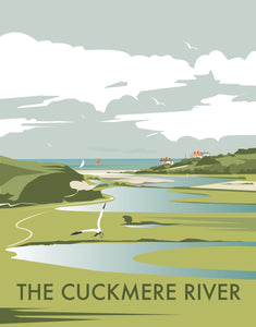 Cuckmere River Print by Dave Thompson