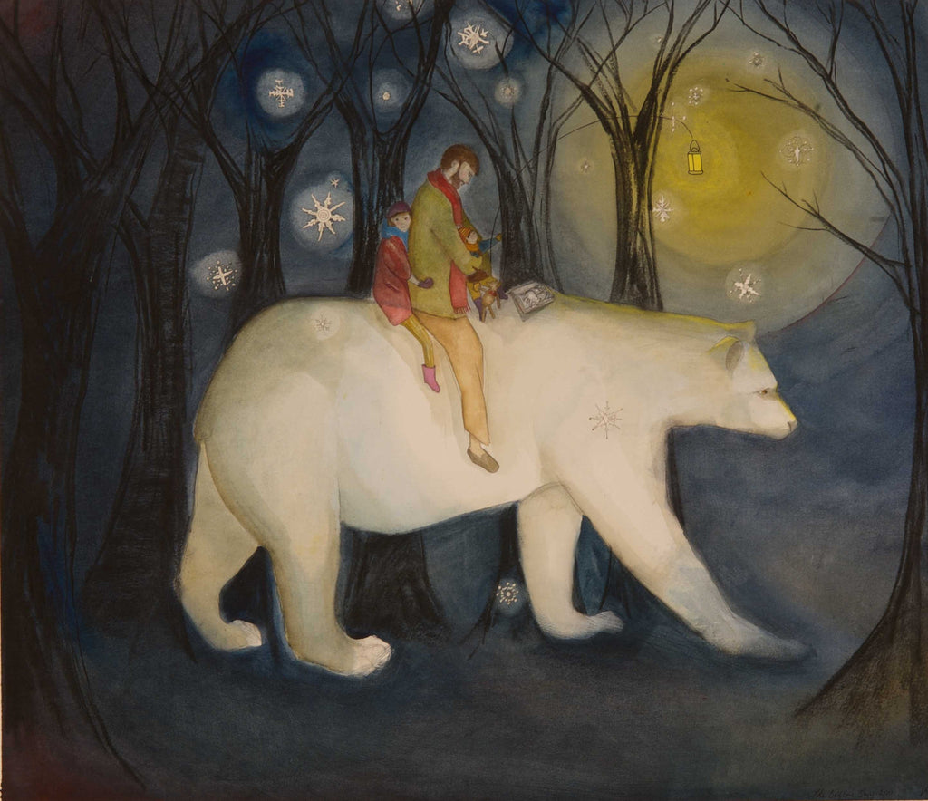 The Bedtime Story Print by Victoria Brook