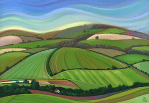 The Downs No.Six Print by Carol Lawson