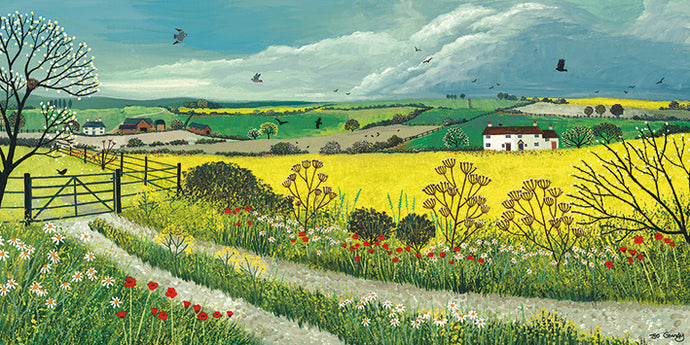 Canola Fields print by Jo Grundy