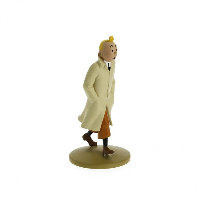 Tintin in Trench Coat figurine by Herge