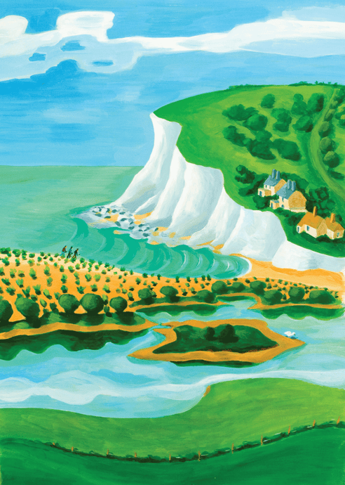 Cuckmere Haven Print by Sarah Gregson