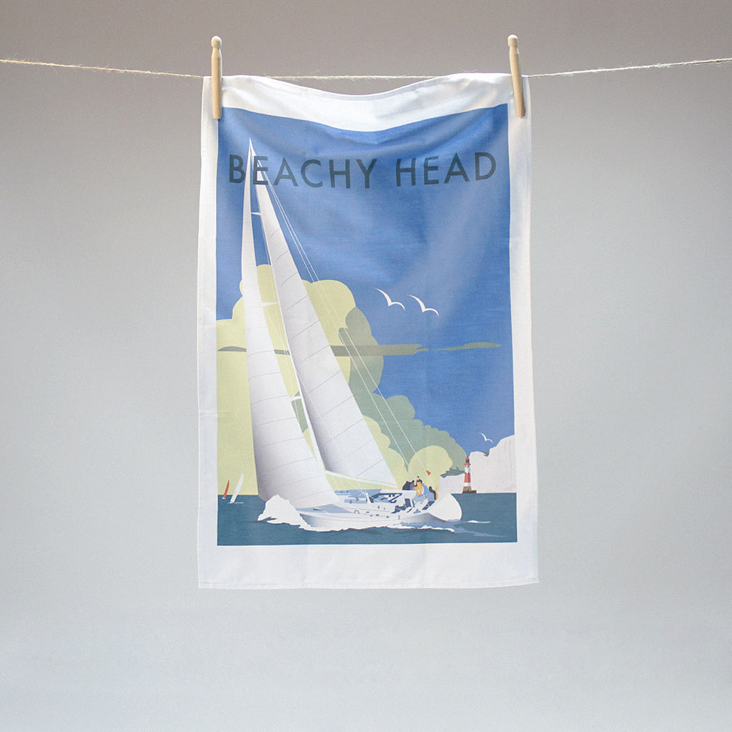 Beachy Head tea towel by Dave Thompson