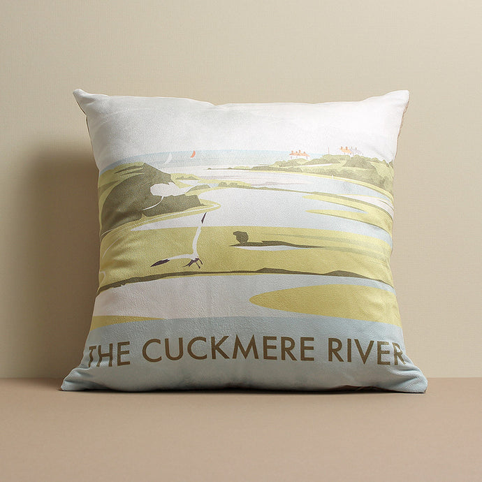 Cuckmere River Cushion by Dave Thompson