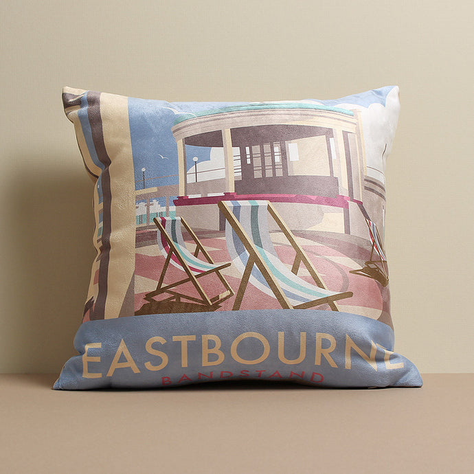 Eastbourne Bandstand Cushion by Dave Thompson