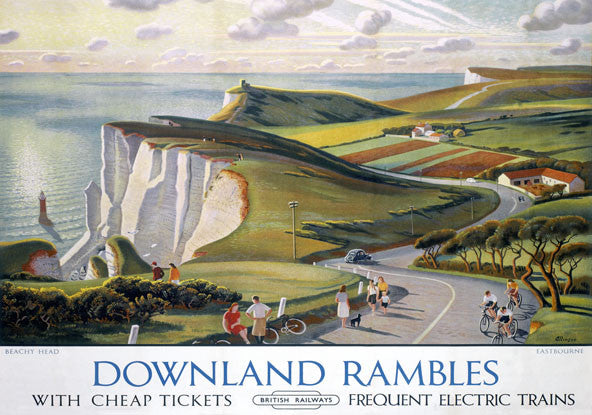 Downland Rambles Print by Adrian Allinson
