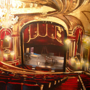 Devonshire Theatre Eastbourne Print by Barry Wilson