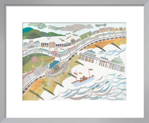 Eastbourne Bandstand Print by Jane Robbins