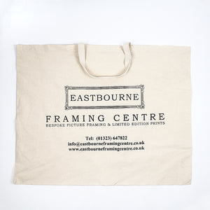 Art work re-useable carrier bag in linen