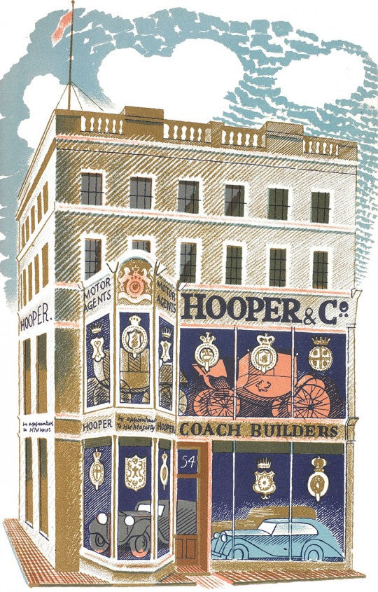 The Coach Builder Print by Eric Ravilious