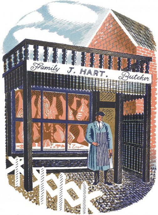 The Family Butcher by Eric Ravilious