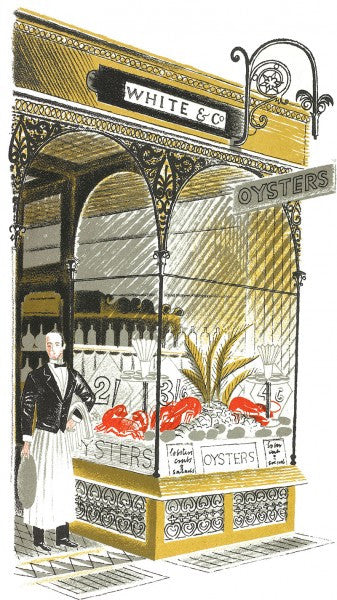 Oyster Bar Print by Eric Ravilious