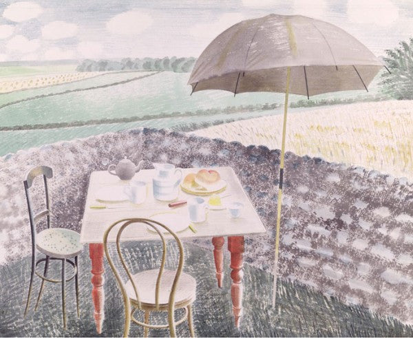Tea at Furlongs Print by Eric Ravilious