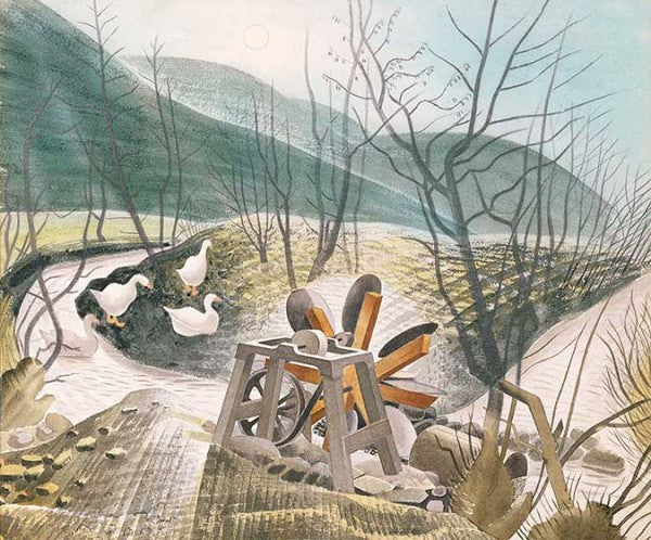 The Waterwheel Print by Eric Ravilious