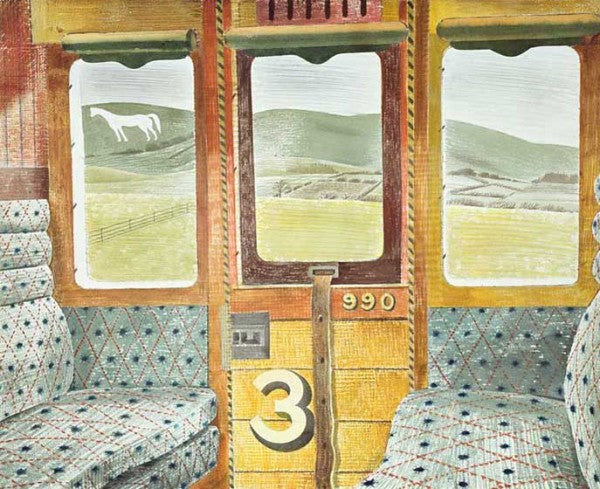 Train Landscape Print by Eric Ravilious