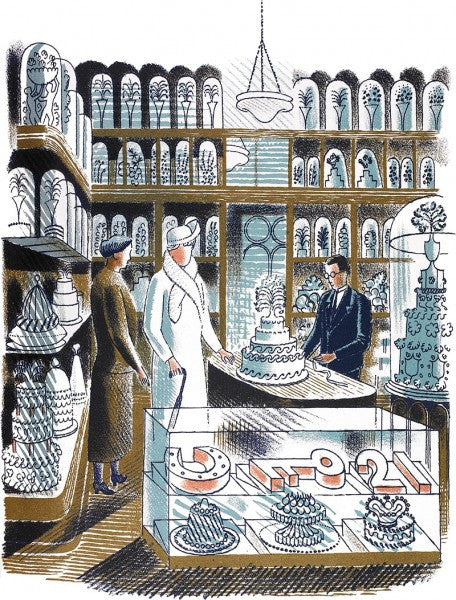 Wedding Cakes Print by Eric Ravilious