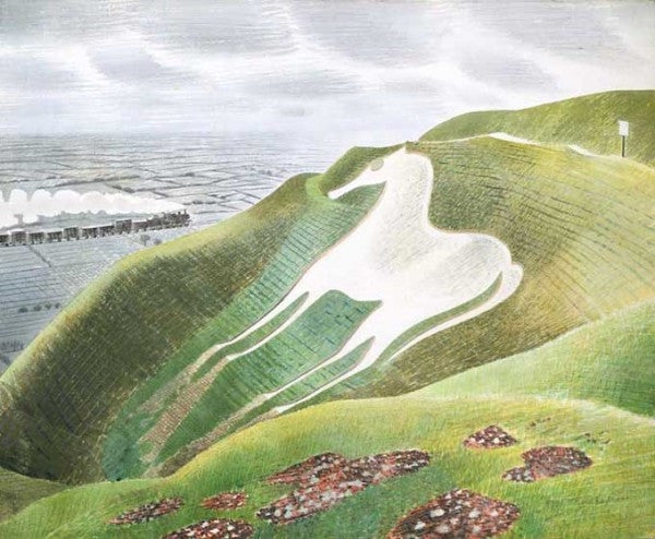 Westbury Horse Print by Eric Ravilious