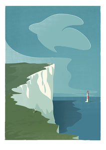 Beachy Head Print by Adam McNaught-Davis