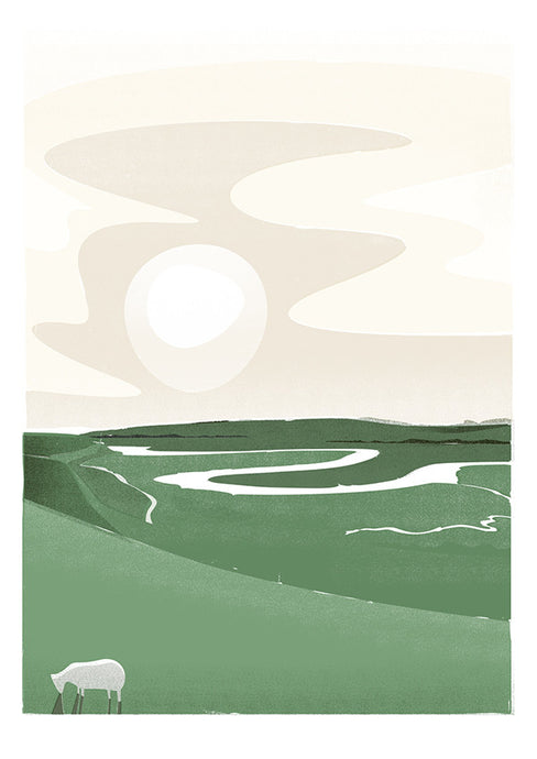 Cuckmere River Print by Adam McNaught-Davis
